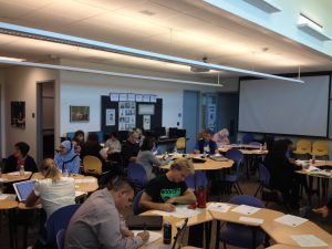 Participants at the OCLN LAP Sharing event at Santiago Canyon College